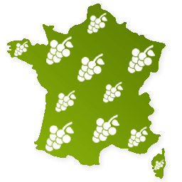 Carte de la France Vigne