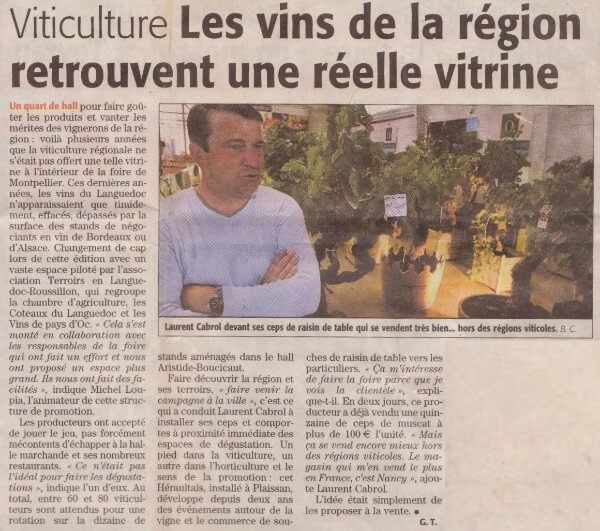Foire expo Montpellier vigne